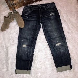 VIGOSS Boyfriend Rolled Up Jeans Sz 11